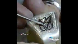 نحوه ساخت انگشتر دست ساز در مرکز فیروزه ایران