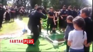اقدام عجیب خانواده متوفی در مراسم خاکسپاری!
