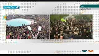 راهپیمایی مردم تهران در اعتراض به اغتشاشات