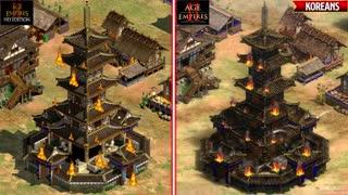 تماشا کنید: تغییرات گرافیکی بازی Age of Empires 2: Definitive Edition نسبت به نسخه قبلی